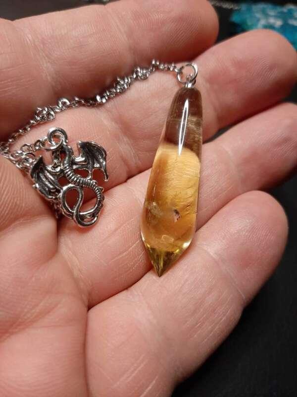 citrine pendulum